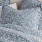 Cstudio Home by The Company Store Tribal Patch 3-Piece Blue Multi Cotton Percale Full Duvet Cover Set