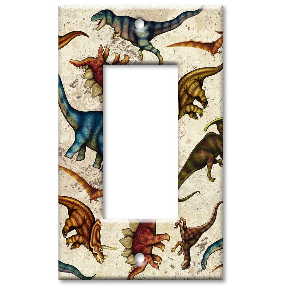 Art Plates Dinosaurs Oversize Rocker Wall Plate