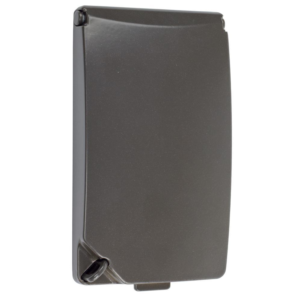 1-Gang Horizontal/Vertical Weatherproof Universal Device Cover, Bronze