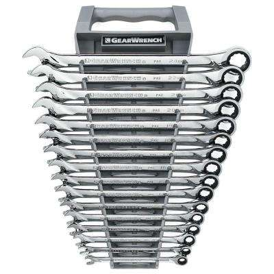 Metric XL Ratcheting Wrench Set (16-Piece)