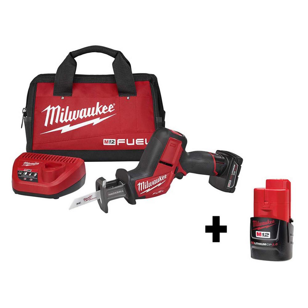 Milwaukee M12 FUEL 12-Volt Lithium-Ion Brushless Cordless HACKZALL Reciprocating Saw Kit with Free M12 2.0Ah Compact Battery