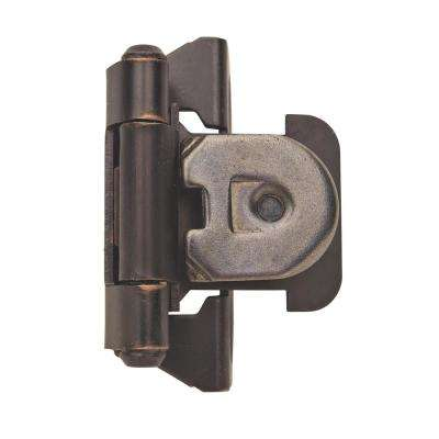 1/4 in. (6 mm) Oil-Rubbed BronzeOverlay Single Demountable, Partial Wrap Hinge (2-Pack)