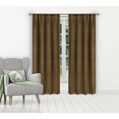 Ira Taupe Blackout Panel Pair - 38 in. W x 84 in. L in (2-Piece)
