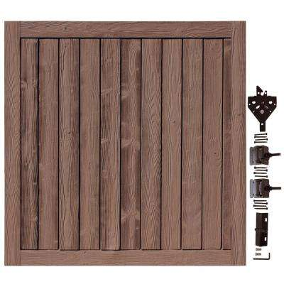 6 ft. W x 6 ft. H Ashland Red Cedar Composite Privacy Fence Gate