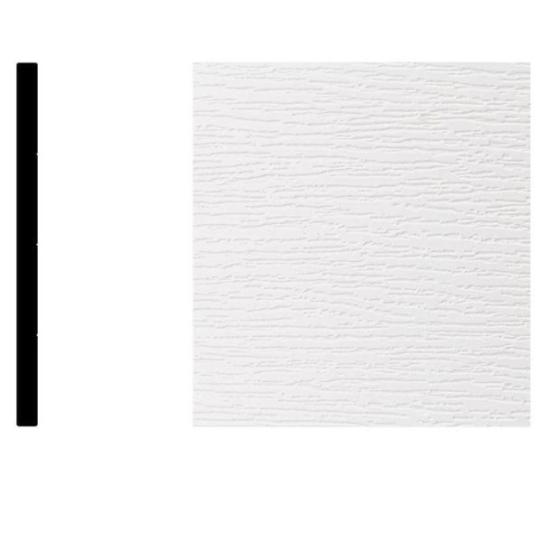 2709 5/16 in. x 5-13/16 in. x 8 ft. PVC Composite White Flat Utility Trim Moulding