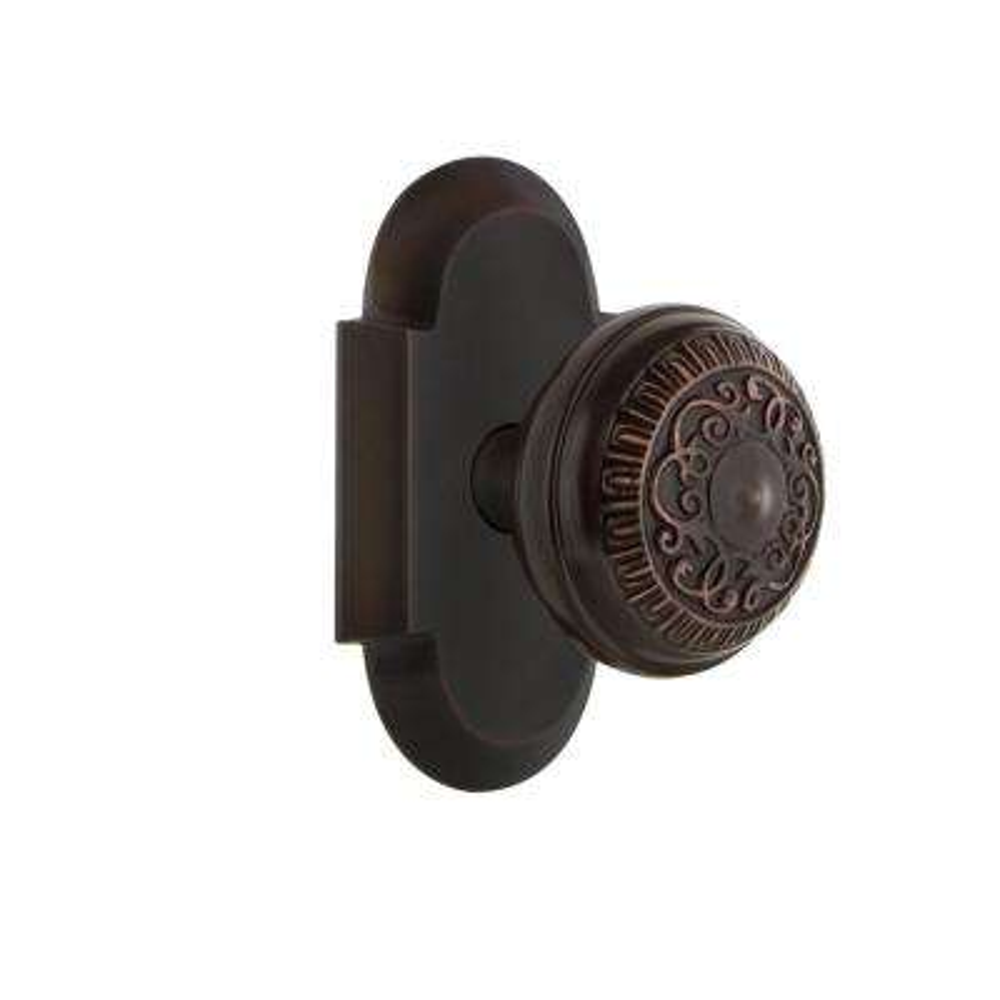 Cottage Plate 2-3/8 in. Backset Timeless Bronze Passage Hall/Closet Egg and Dart Door Knob