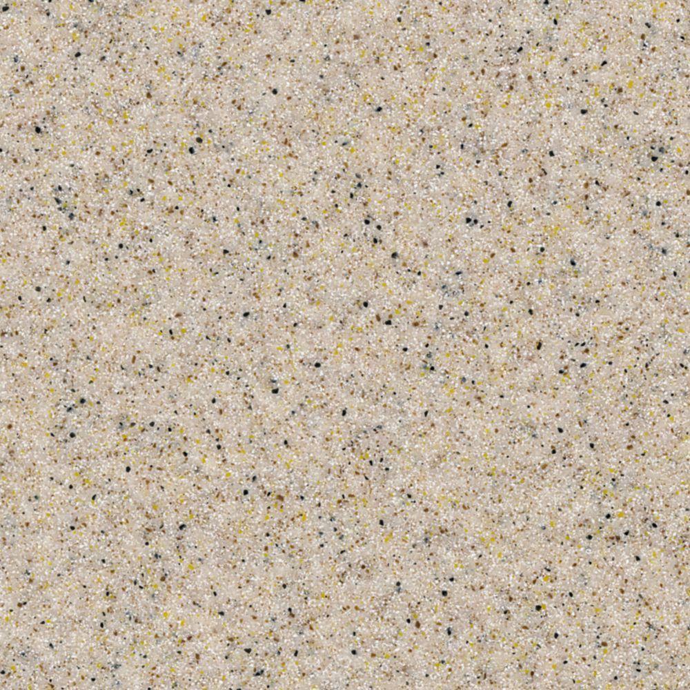 4 in. x 4 in. Solid-Surface Vanity Top Sample in Cinnamon Sugar