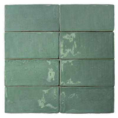 Catalina Green Lake 3 in. x 6 in. x 8 mm Polished Ceramic Subway Wall Tile (5.38 sq.ft./case)