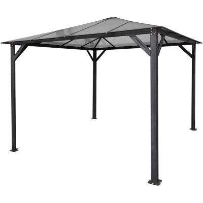 10 ft. x 10 ft. Aluminum Hardtop Gazebo with Polycarbonate Roof Panels