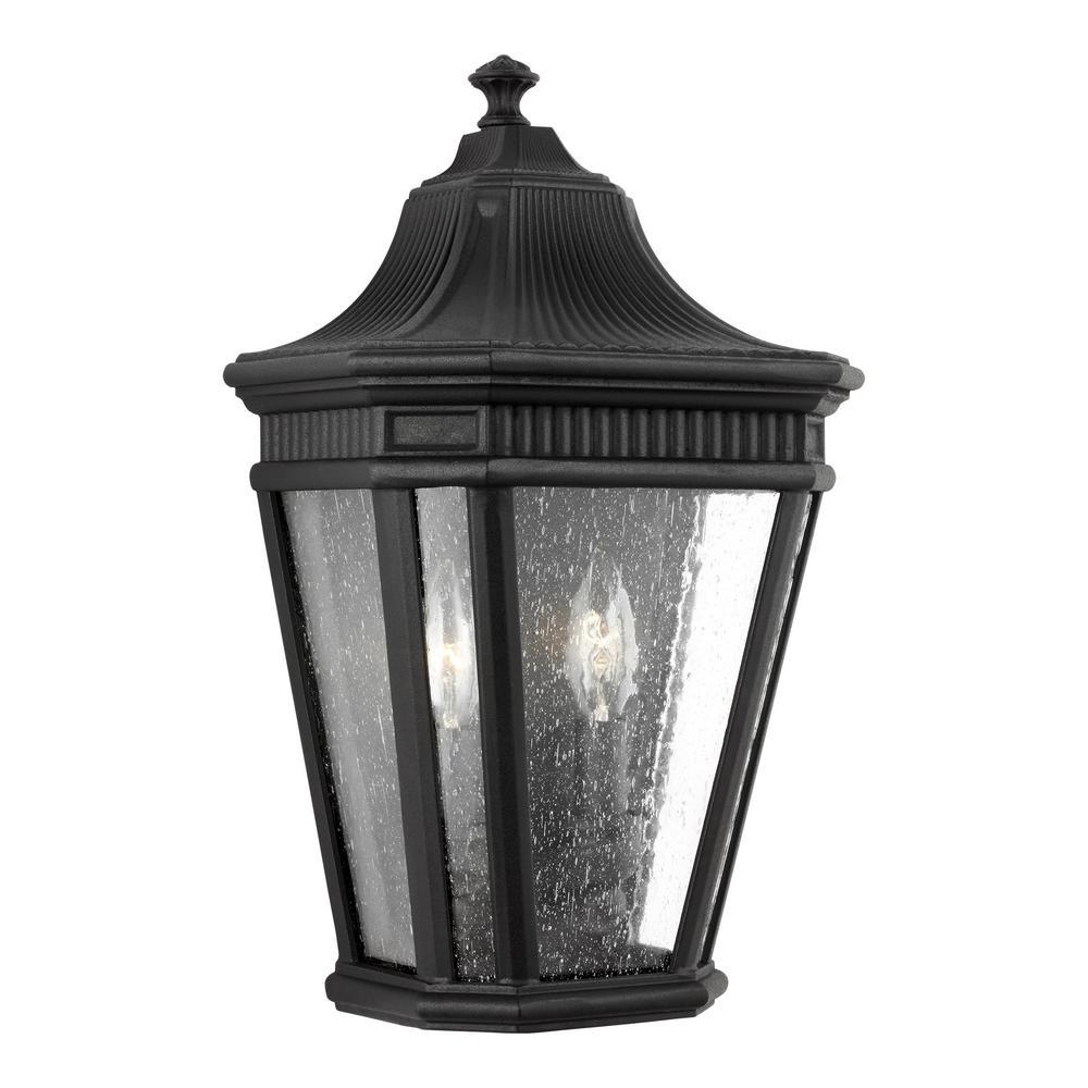 Cotswold Lane 2-Light Black Outdoor Wall Mount Lantern