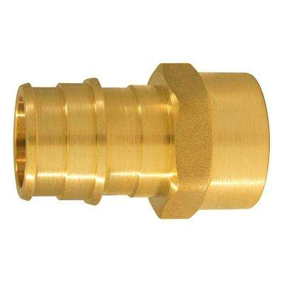 3/4 in. Brass PEX-A Expansion Barb x 1/2 in. FNPT Female Adapter (5-Pack)