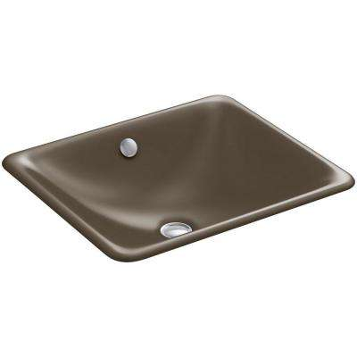 Iron Plains Drop-In/Under-Mounted Cast Iron Bathroom Sink in Suede with Overflow