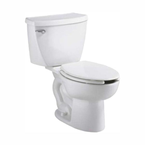 American Standard Cadet Pressure-Assisted 2-piece 1.1 GPF Single Flush Elongated Toilet in White, Seat Not Included