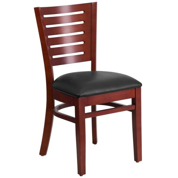 Flash Furniture Darby Series Mahogany Slat Back Wooden Restaurant