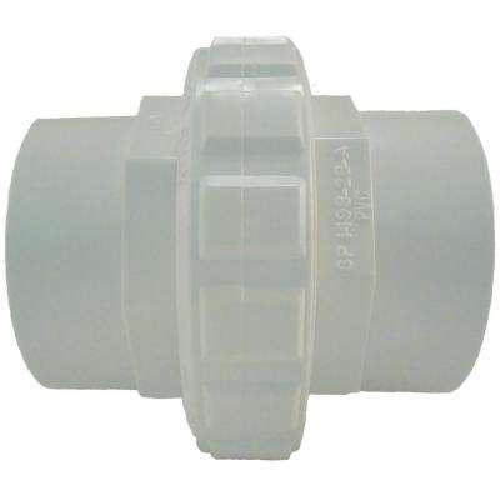 2 in. Socket Flush Female Socket Union in White