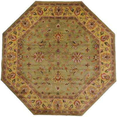 Franklin Fern Wool 8 ft. x 8 ft. Octagon Area Rug