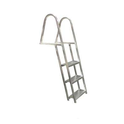 3-Step Angled Wide 5-1/2 in. Aluminum Dock Ladder