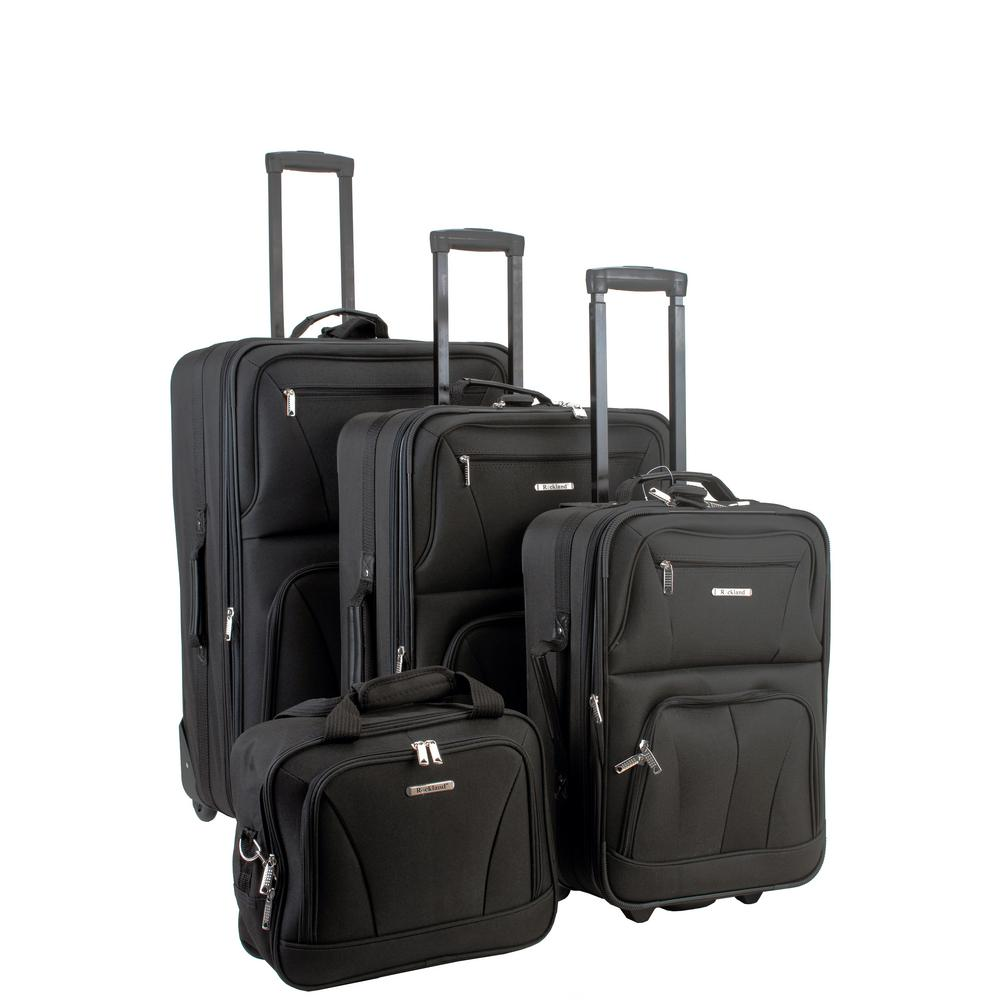 Rockland Sydney Collection Expandable 4-Piece Softside Lu...