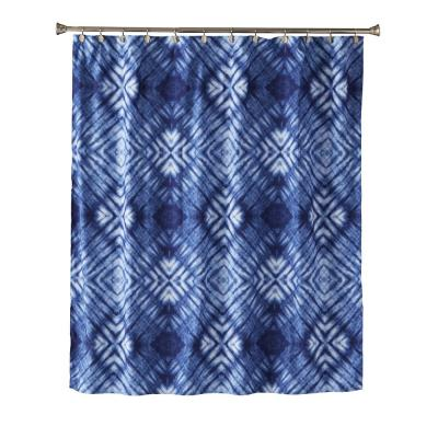 Zarrie 72 in. Blue Shower Curtain