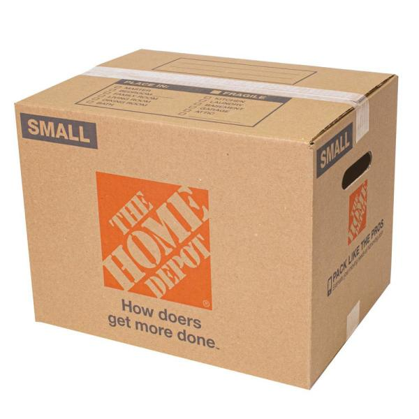The Home Depot Small Moving Box 16 In L X 12 In W X 12 In D 1001004 The Home Depot