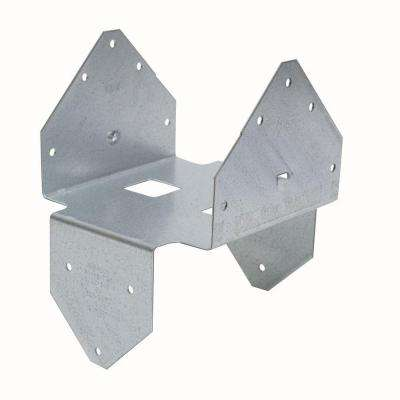 BCS 3 in. x 6 in. ZMAX Galvanized Double Post Cap/Base