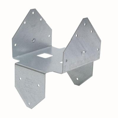 BCS Galvanized Post Cap/Base for Double 3x Beam, 6x Post