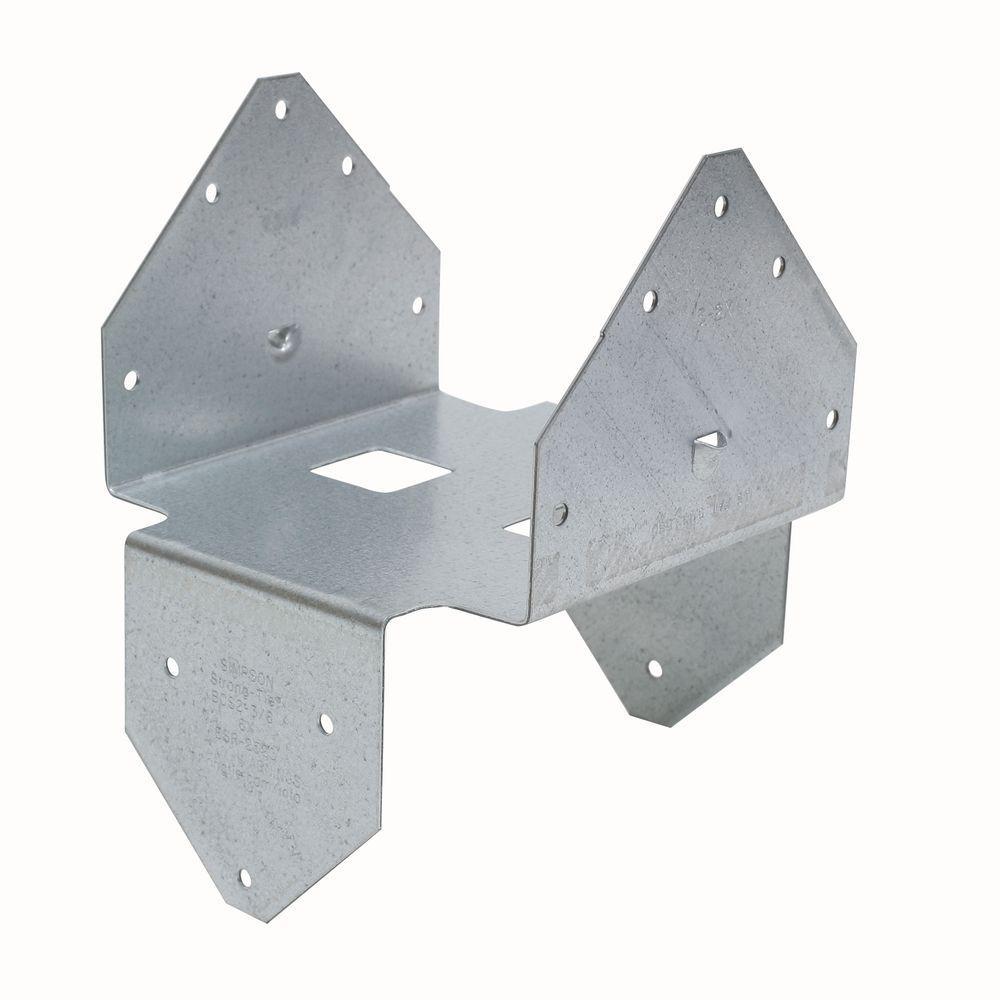 BCS ZMAX Galvanized Post Cap/Base for Double 3x Beam, 6x Post