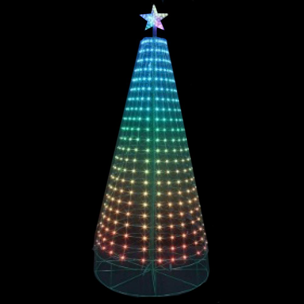 Home Accents Holiday 7.5 ft. LED 360,Degree Pixel Tree