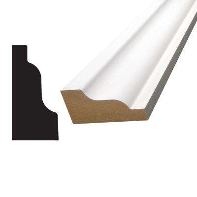 1-3/16 in. x 2-7/16 in. x 96 in. MDF Primed Fiberboard Crown Moulding