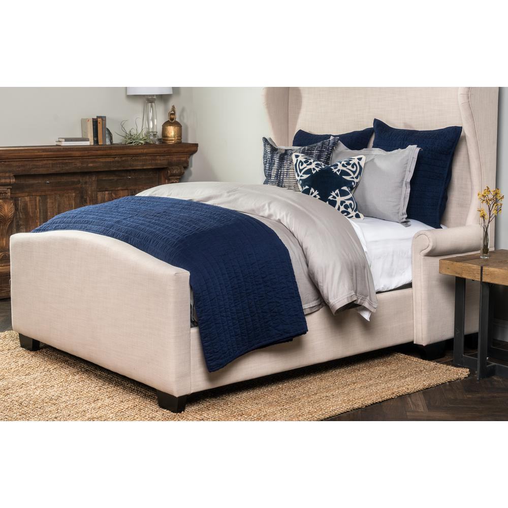 3aa011aebb188 Heirloom Linen Quilted Navy Euro Sham 26x26-V140972 - The Home Depot