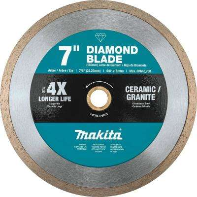 7 in. Continuous Rim Diamond Blade for General Purpose