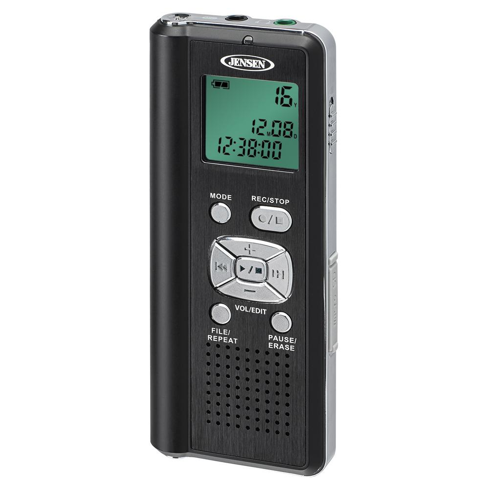 Jensen Digital Voice Recorder with Micro SD Card Slot