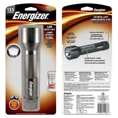 Silver Metal LED Flashlight