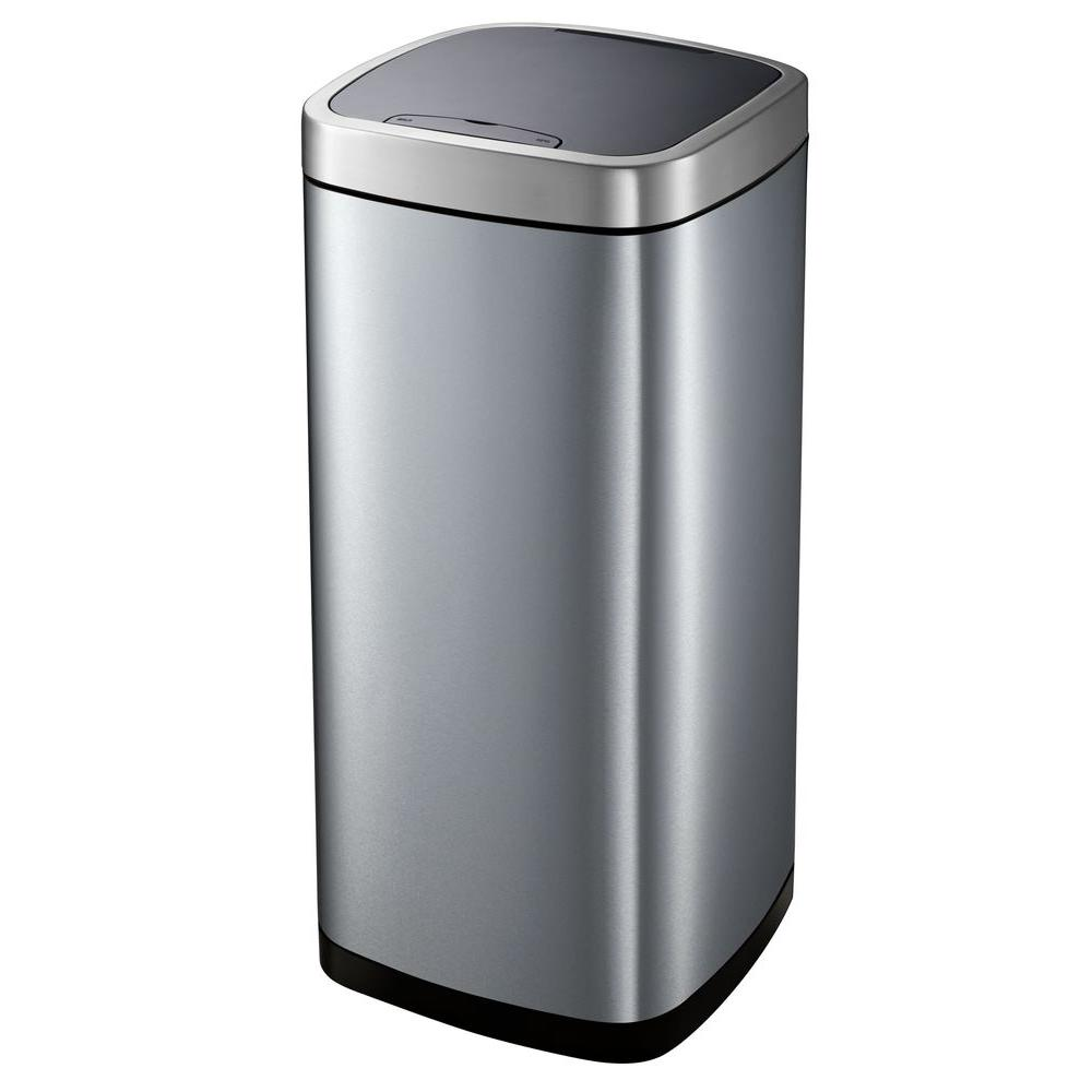 hdx metal trash cans ek9288thd 80l 64_1000 hdx 80 l motion sensor trash can ek9288thd 80l the home depot HDX Outdoor Trash Can at creativeand.co