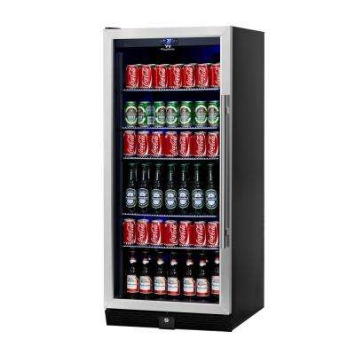 Single Zone 23.42 in. 300 (12 oz.) Stainless Steel Beverage Can Cooler