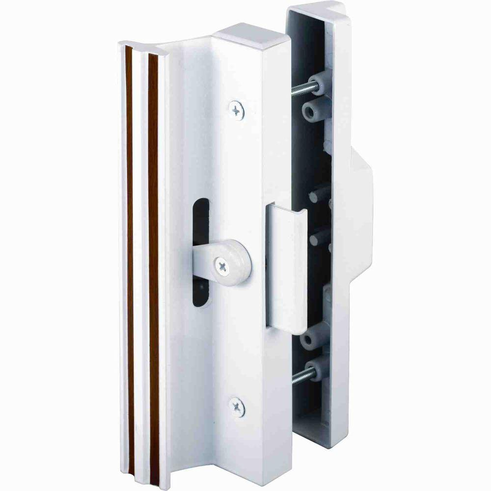 prime line surface mounted sliding glass door handle with clamp type latch diecast outside - Sliding Glass Door Handle