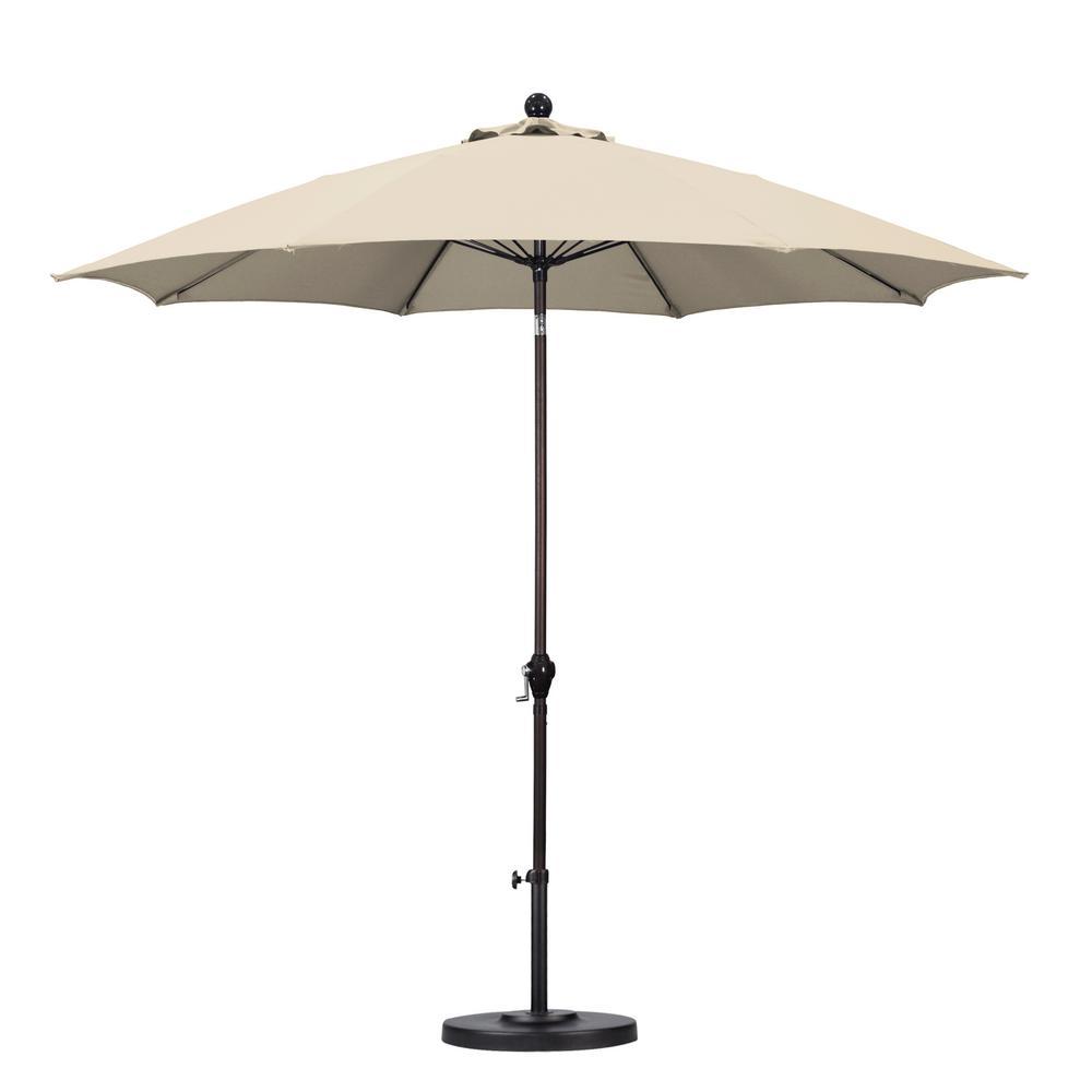 California Umbrella 9 Ft. Fiberglass Push Tilt Patio