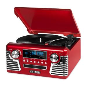 Victrola Retro Style Turntable with Bluetooth and CD Player in Red-V50-200  Red - The Home Depot