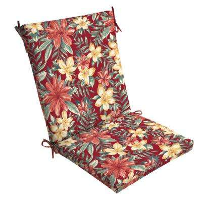 20 x 20 Ruby Clarissa Tropical Outdoor Dining Chair Cushion
