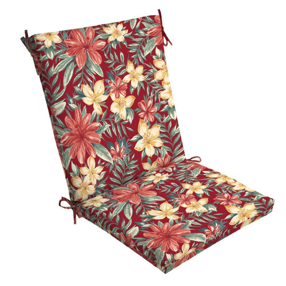 ruby clarissa tropical outdoor dining chair cushion