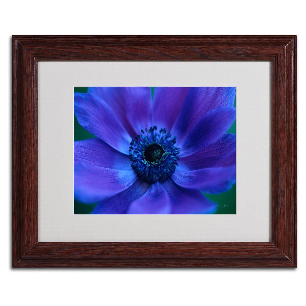 11 in. x 14 in. Beautiful Anemone Matted Framed Art