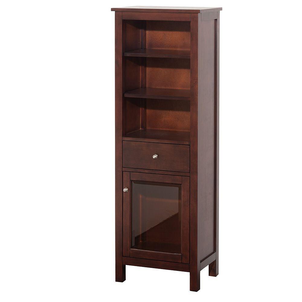 Lexington 20 in. W x 60-1/5 in. H x 14 in. D Bathroom Linen Storage Tower Cabinet in Light Espresso