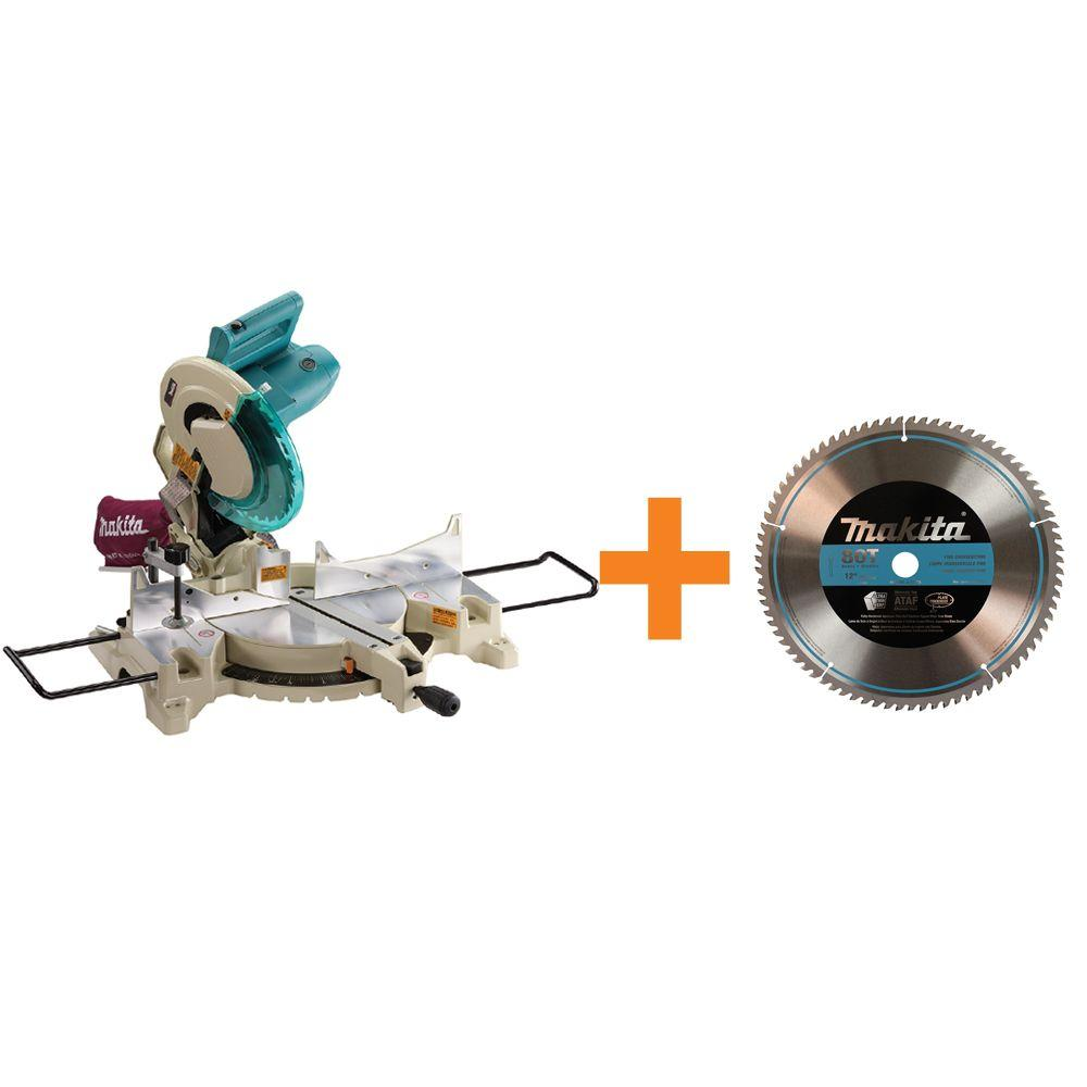 Makita 15-Amp 12 in. Corded Compound Miter Saw with Free 12 in. Blade