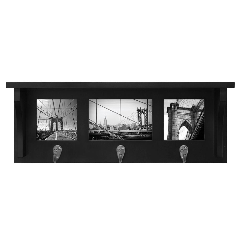 kieragrace Riley Collage Shelf, 3 Hooks
