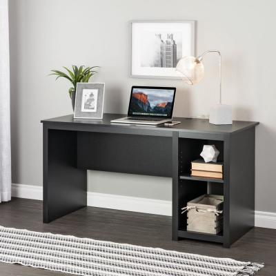 Sonoma 56 in. Rectangular Black Computer Desk with Adjustable Shelf