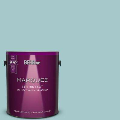 1 gal. #PPU13-10 Tinted to Ocean Boulevard Flat Interior Ceiling Paint and Primer in One