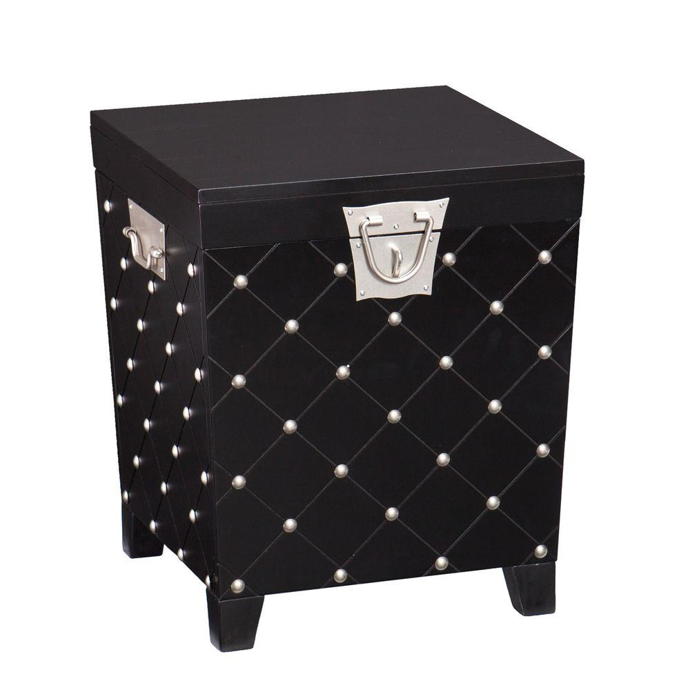Southern Enterprises Black Trunk End Table