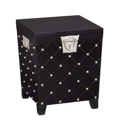 Black Trunk End Table