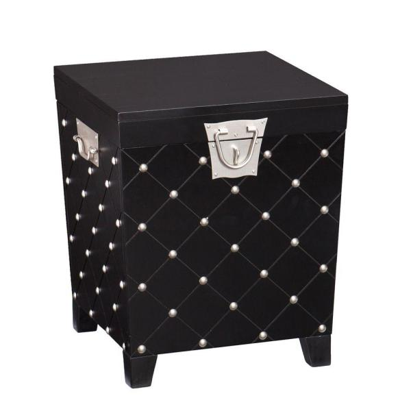 Incroyable Black Trunk End Table
