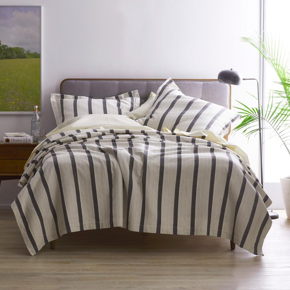 Lowry Striped Textured Cotton Matelassé Coverlet